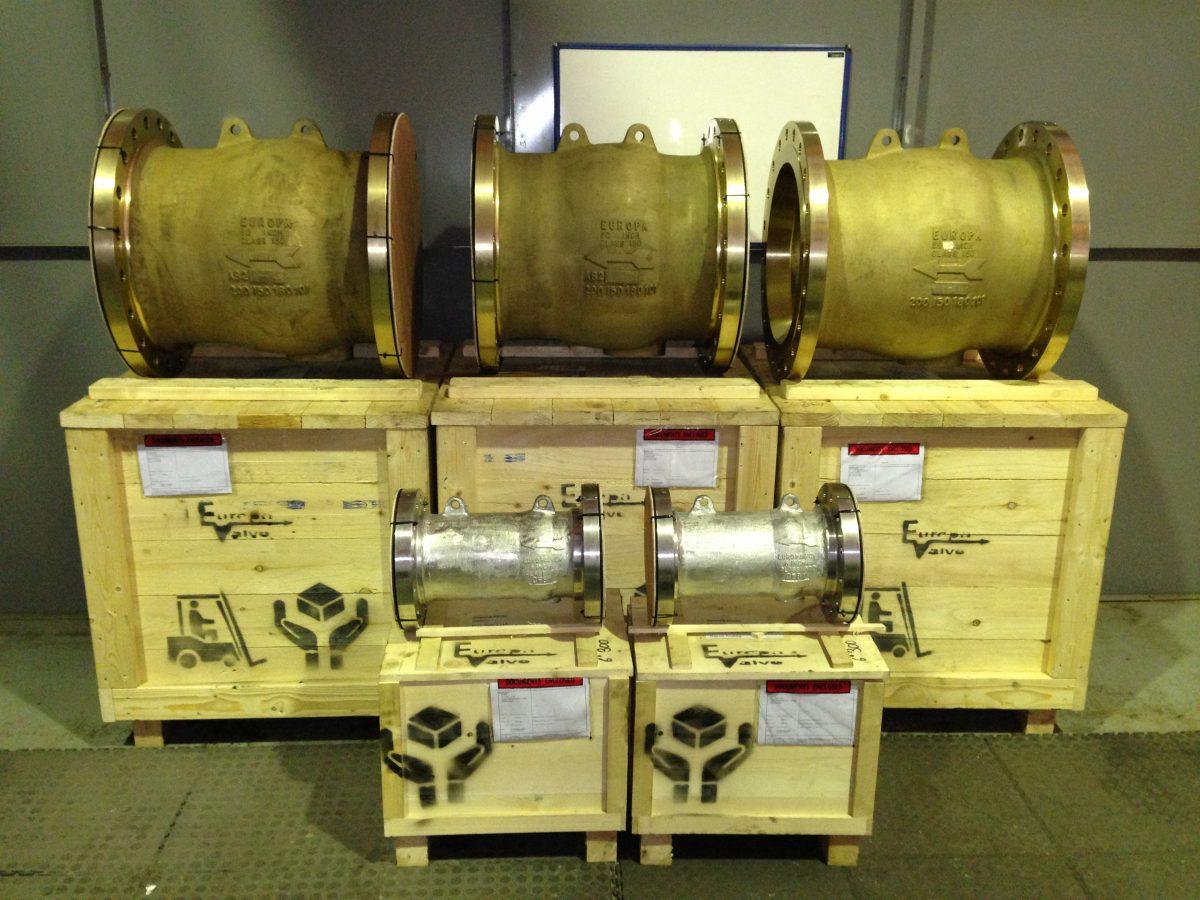 """Aluminium Bronze 20"""" valves"""