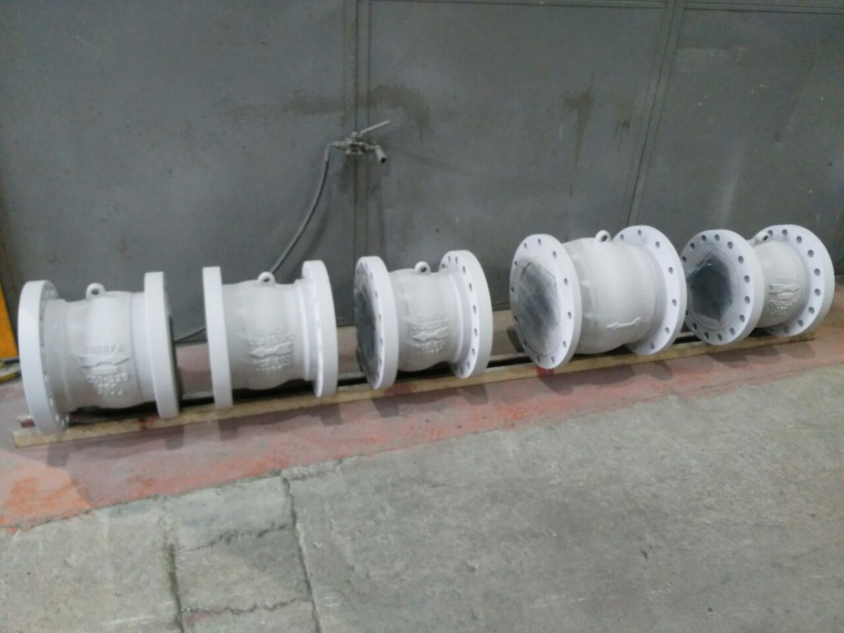 "10"" and 12"" Nozzle Check Valves"